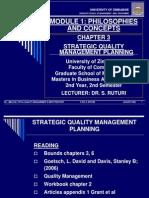 Tqm Chapter 3 - 2009 Strategic Quality Management Planning - Copy