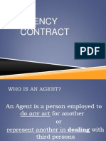 1. Agency Contract