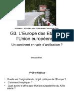 G3 Europe Des Etats