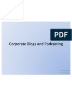 Corporate Blogs and Podcasting