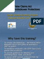 California False Claims Education and Training