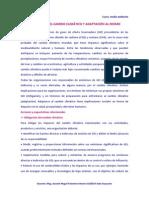 MITIGACIÓN DEL CAMBIO CLIMÁTICO Y ADAPTACIÓN AL MISMO