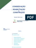 conservação e reabilitação da construção