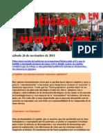 Noticias uruguayas sábado 26 de noviembre de 2011