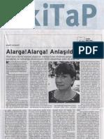 Alarga! Alarga! Anlaşıldı!, BİRGÜN kİTaP, 26 Kasım 2011, sayı 110