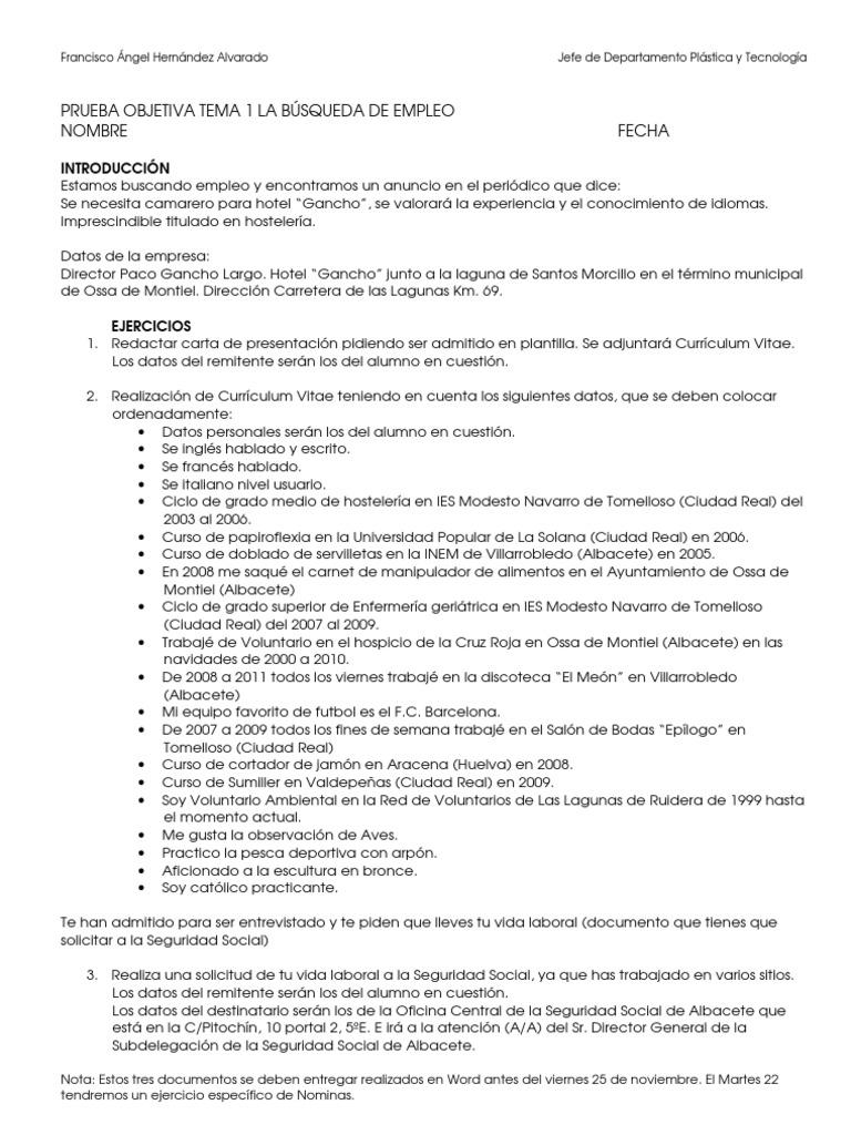 Lujoso Recuperar El Currículum Composición - Ejemplo De Colección De ...