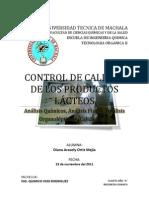 Control de Calidad de Productos Lacteos