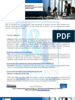 Beneficios de Certificacion y Cursos TECNICOS MICROSOFT