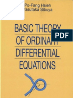Basic Theory of Ordinary Differential Equations Universitext