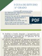 ANALISIS GUIA DE ESTUDIO 6° GRADO