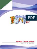 Digital Juice Fonts UserGuide