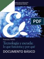 Francesc Pedró LA EDUCACIÓN EN LA SOCIEDAD DIGITAL