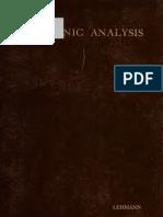 Harmonic Analysis (1910)