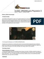 Guia Trucoteca Dragon Age Origins Play Station 3