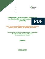 Proyecto Para La Agricultura y El Desarrollo Rural Sostenible en AC