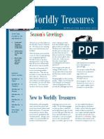 Worldly Treasures Newsletter Nov Dec