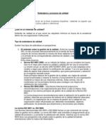 Estándares y procesos de calidad