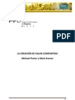 La Creacion de Valor Compartido - Michael Porter y Mark Kramer - HBR