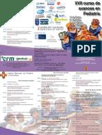 Triptico XVII Curso de Avances en Pediatria 2012