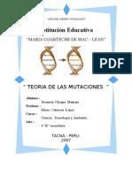 Teoria de Las Mutaciones