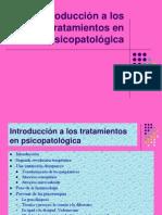 Introducción a los tratamientos en psicopatológica