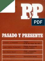 Pasado y Presente, segunda época, nº 1, 1973