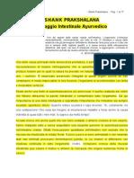 SHANK PRAKSHALANA - Lavaggio Intestinale Ayurvedico