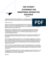 CSD19_Statement for Ministerial Interactive Dialogue_13 May 2011