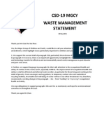 CSD19_Waste Management Statement_10 May 2011