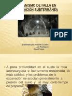 Mecanismo de Falla en Excavación Subterránea