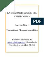 Jean-Luc Nancy - La Deconstrucción del Cristianismo