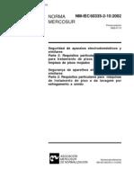 NBR NM IEC 60335 - Seguranca de Aparelhos Eletrodomesticos E Similares - Parte 2-10 Requisitos Pa