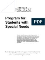 Sekolah Nusa Alam Program for Students With Disabilities