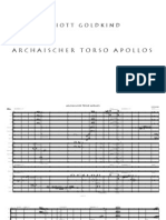 Archaischer Torso Apollos (for Soprano and Chamber Orchestra)