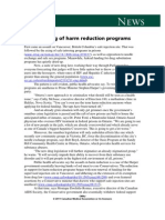 24nov11 the Redlining of Harm Reduction Programs