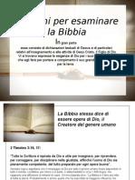 Ragioni Per Esaminare La Bibbia