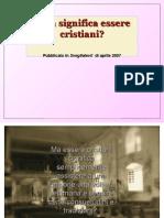 Cosa Significa Essere Cristiani