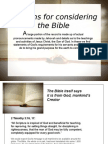 Reasons for Considering the Bible