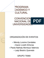 PROGRAMA DE LA CONVENCION