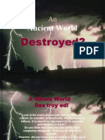Was an Ancient World Destroyed ?