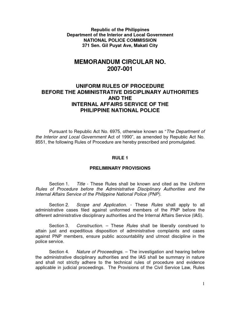 Napolcom mc no 2007 001 complaint service of process spiritdancerdesigns Gallery
