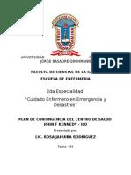 Plan de cia Para cia y Desastres