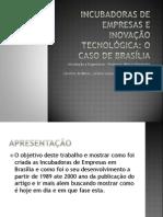Incubadoras de Empresas e Inovação Tecnológica