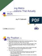 WebGalbraith Matrix Organizations