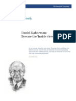 Daniel Kahneman Beware Inside View
