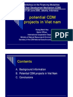 Potential CDM Projects in VN