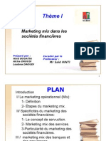 Marketing mix dans les sociétés financieres (PPT)
