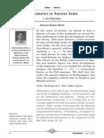 Mathematics in Acient India