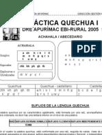 Resumen gramática Quechua Apurimeño