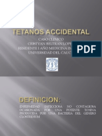 Tetanos Accidental
